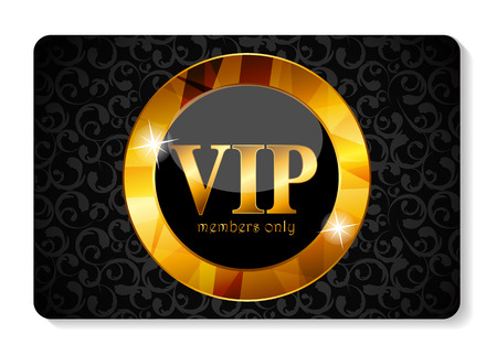 VIP Members Card Vector Illustration 일러스트