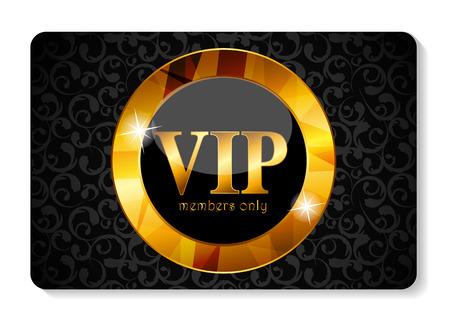 free gift: VIP Members Card Vector Illustration Illustration