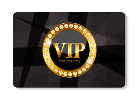 VIP Members Card Vector Illustration Illustration