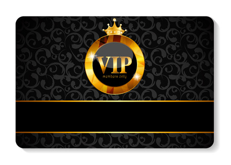 VIP Members Card Vector Illustration Vettoriali
