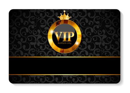Ilustración vectorial Tarjeta VIP Miembros