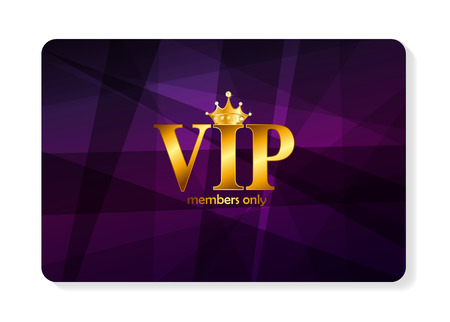 VIP Members Card Vector Illustration  イラスト・ベクター素材