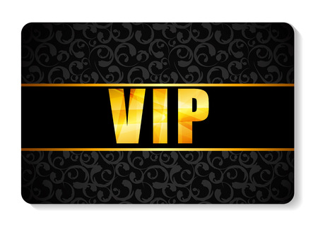 exclusion: VIP Members Card Vector Illustration Illustration