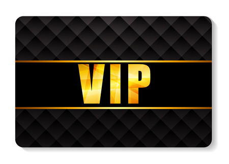 card symbols: VIP Members Card Vector Illustration Illustration