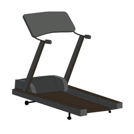 simulator: Sports Trainer. Simulator. Isolated Vector Illustration.