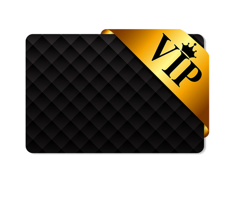 VIP Ribon on Card Vector Illustration Çizim