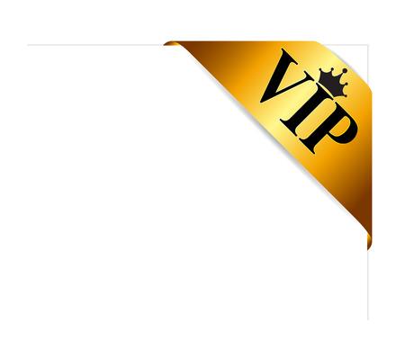 medal ribbon: VIP Ribon on Card Vector Illustration Illustration