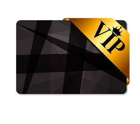 private club: VIP Ribon on Card Vector Illustration Illustration
