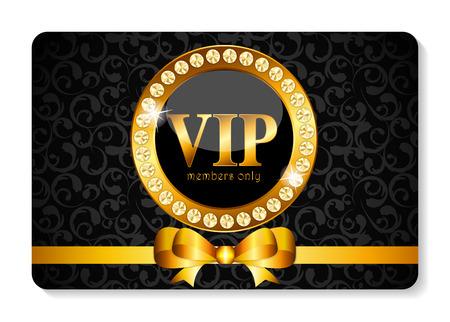 vip symbol: VIP Members Card Vector Illustration Illustration