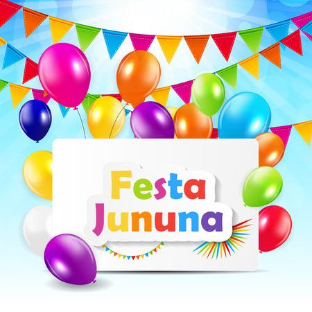 non urban scene: Festa Jinina Background Vector Illustration Illustration