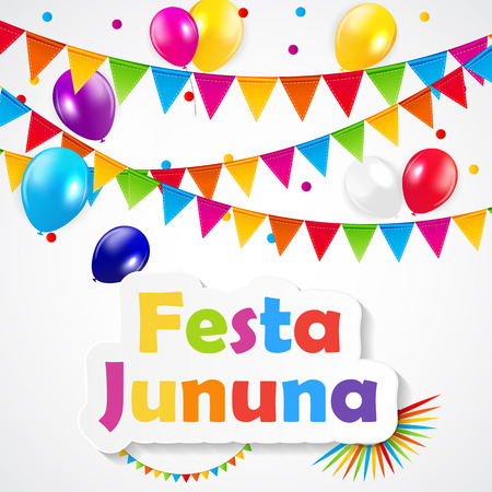 balloons celebration: Festa Jununa Background