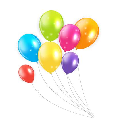 colored balloons: Set of Colored Balloons Illustration