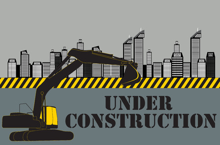 construction equipment: Buildings of the City. Under Construction