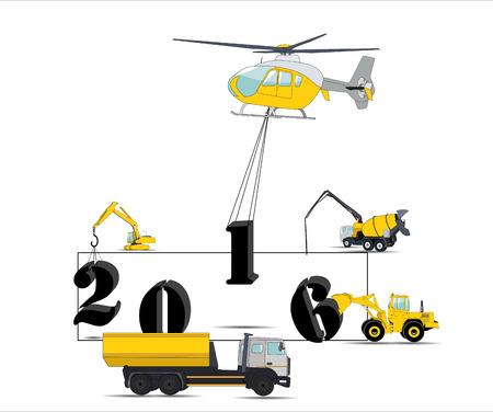 front loading: Equipment Builds Calendar for 2016 Illustration
