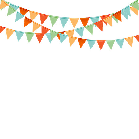 Party Background with Flags Vector Illustration Vettoriali