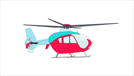 helicopter: Helicopter in Flight Illustration.