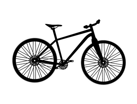 bicycle silhouette: Bicycle Silhouette