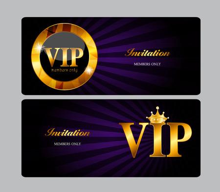 vip symbol: VIP Members Card Illustration