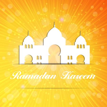 namaz: Background for Muslim Community Festival Vector Illustration Illustration