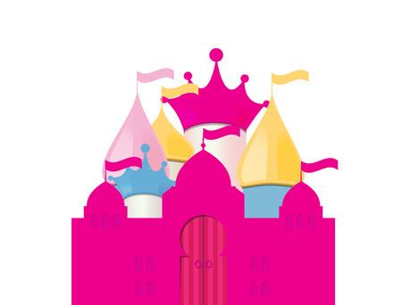castello fiabesco: Fairytale Illustrazione Castello. Vettoriali
