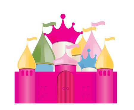 fairytale castle: Fairytale Castle Illustration.