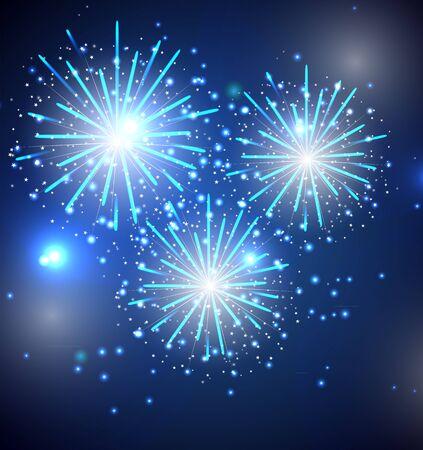 fawkes: Glossy Fireworks Background Illustration Illustration