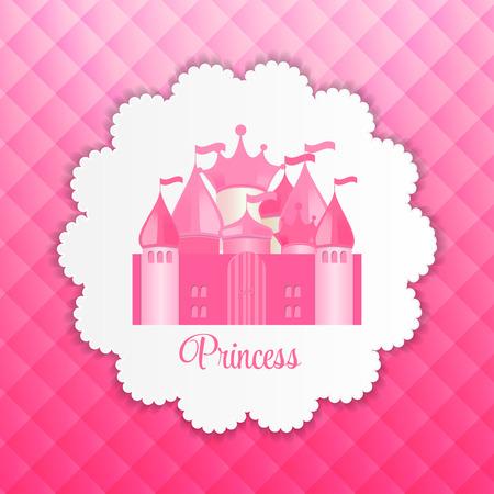 princesa: Princesa de fondo con ilustración vectorial Castillo