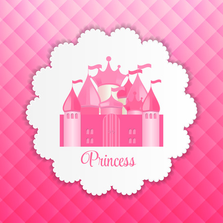 castle: Princess  Background with Castle Vector Illustration
