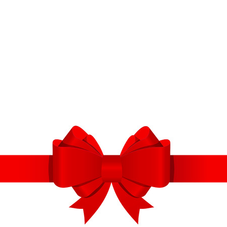 Gift Bow mit Band Vector Illustration Standard-Bild - 41448872