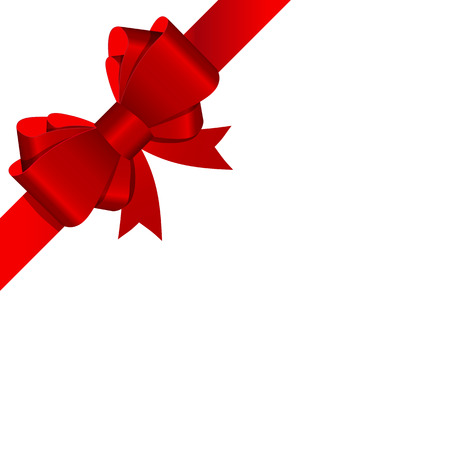 Gift Bow with Ribbon Vector Illustration