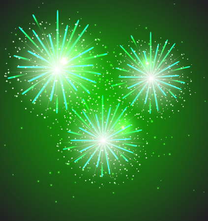 guy fawkes night: Glossy Fireworks Background Vector Illustration Illustration