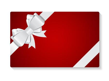 Geschenk-Karte mit Bogen und Band Vektor-Illustration Standard-Bild - 41453445