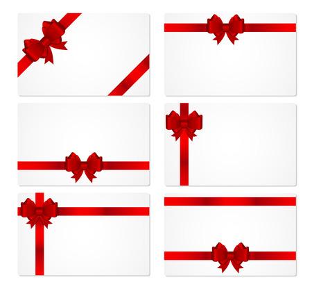 Carte-cadeau avec Bow et ruban illustration vectorielle Banque d'images - 41453512