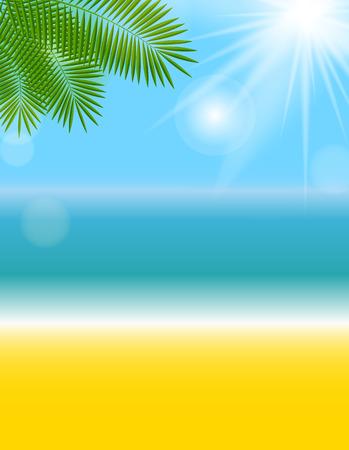 exoticism: Summer Natural Background Vector Illustration Illustration