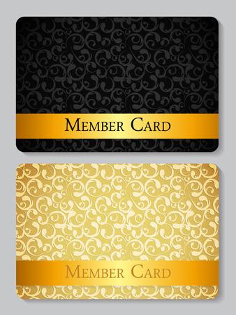 VIP Members Card Vector Illustration EPS10  イラスト・ベクター素材