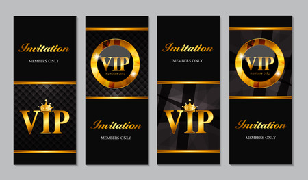 VIP Members Card Vector Illustration EPS10 Vectores