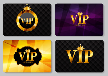 free place: VIP Members Card Vector Illustration EPS10 Illustration