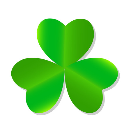 threeleaf: Three Leaf Green Clover. Vector Illustration.