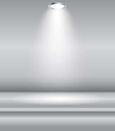 stage projector: Background with Lighting Lamp. Empty Space for Your Text or Object.  Illustration