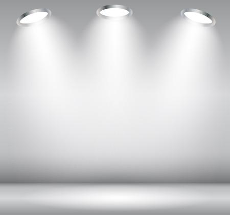 místo: Souvislosti s osvětlením lampou. Prázdný prostor pro text nebo objekt. Ilustrace