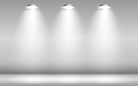 Background with Lighting Lamp. Empty Space for Your Text or Object.  Vettoriali