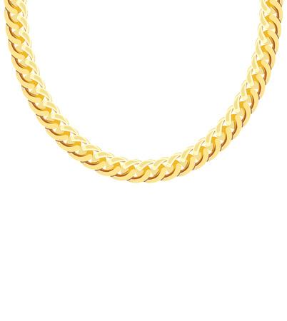 Gold Chain Jewelry. Vector Illustration.   イラスト・ベクター素材