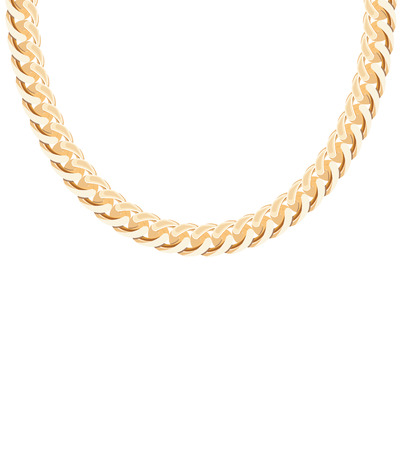gold chain: Gold Chain Jewelry. Vector Illustration.  Illustration