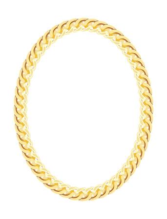 Gouden Ketting Jewelry. Vector Illustratie.