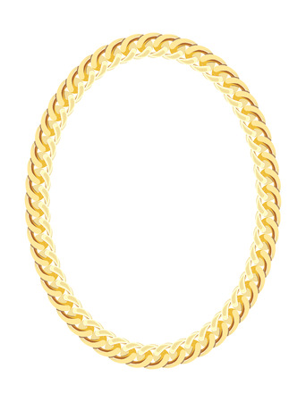 Gold Chain Jewelry. Vector Illustration.  Vettoriali