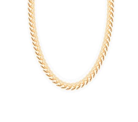 jeweller: Gold Chain Jewelry. Vector Illustration.  Illustration