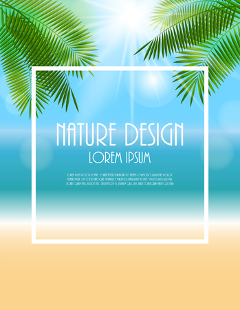 horizon over water: Summer Natural Background Vector Illustration  Illustration