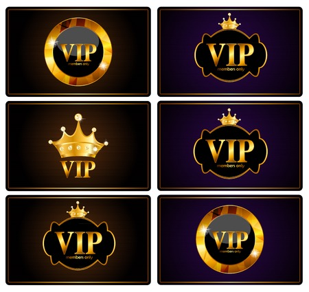 the place is important: VIP Members Card Set Vector Illustration EPS10 Illustration