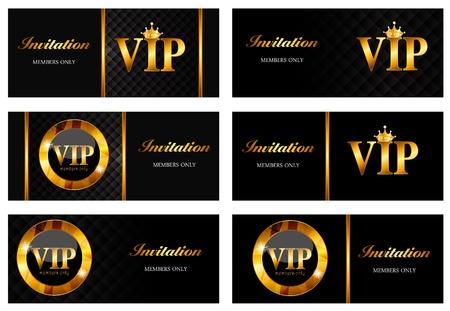 high society: VIP Members Card Set Vector Illustration EPS10 Illustration