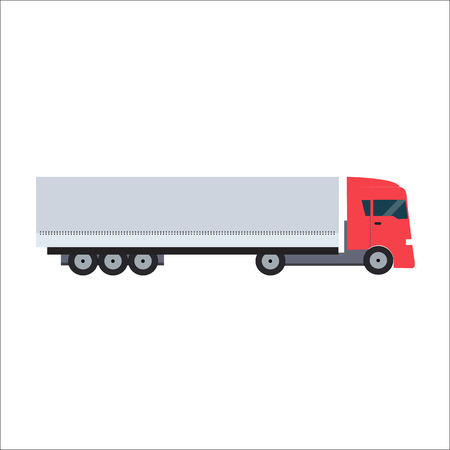 camion: Ftat Truck Vector Illustration EPS10 Illustration